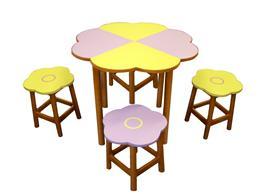 花形組合檯椅