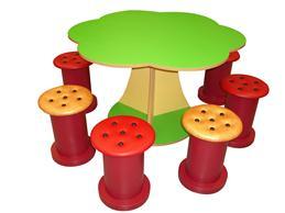 樹形組合檯椅